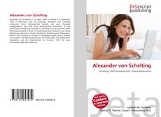 Buchcover von Alexander von Schelting