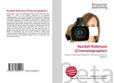 Обложка Randall Robinson (Cinematographer)