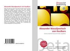 Обложка Alexander Wassiljewitsch von Kaulbars