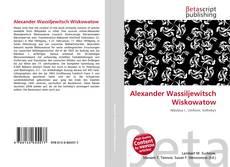 Обложка Alexander Wassiljewitsch Wiskowatow