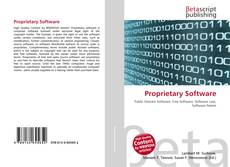 Bookcover of Proprietary Software