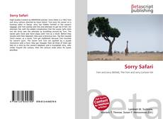Couverture de Sorry Safari