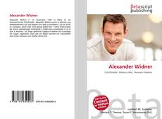 Buchcover von Alexander Widner