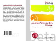 Обложка Alexander Wiktorowitsch Kulakow
