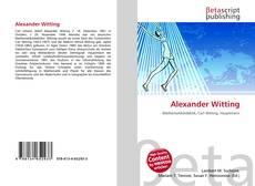 Portada del libro de Alexander Witting