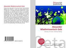 Portada del libro de Alexander Wladimirowitsch Golz