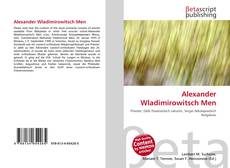Alexander Wladimirowitsch Men kitap kapağı