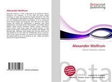 Bookcover of Alexander Wolfrum