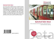 Bookcover of Bahnhof Köln West
