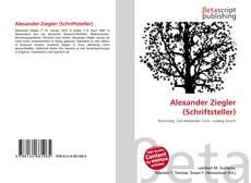 Buchcover von Alexander Ziegler (Schriftsteller)