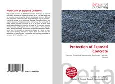 Bookcover of Protection of Exposed Concrete