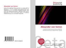 Buchcover von Alexander von Soiron