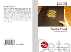 Bookcover of Randhir Prasad
