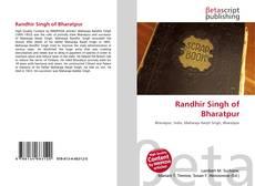 Bookcover of Randhir Singh of Bharatpur