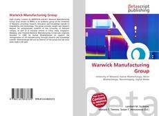 Warwick Manufacturing Group kitap kapağı