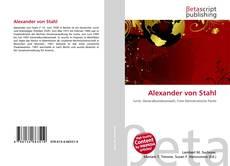 Bookcover of Alexander von Stahl