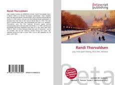 Capa do livro de Randi Thorvaldsen