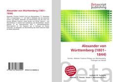 Bookcover of Alexander von Württemberg (1801–1844)