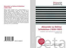 Обложка Alexander zu Dohna-Schlobitten (1899-1997)