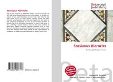 Bookcover of Sossianus Hierocles