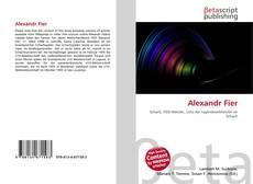 Bookcover of Alexandr Fier