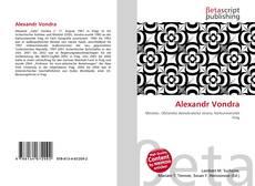 Buchcover von Alexandr Vondra