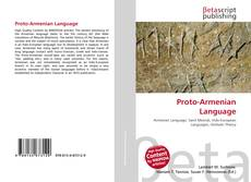 Bookcover of Proto-Armenian Language