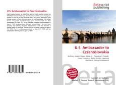 Bookcover of U.S. Ambassador to Czechoslovakia