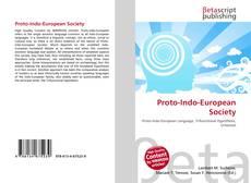 Обложка Proto-Indo-European Society
