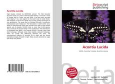 Обложка Acontia Lucida