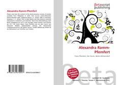 Обложка Alexandra Ramm-Pfemfert