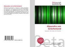 Bookcover of Alexandra von Griechenland