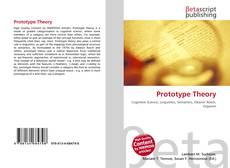 Capa do livro de Prototype Theory