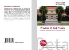 Bookcover of Province of East Prussia