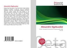 Alexandre Dgebuadze kitap kapağı