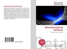 Capa do livro de Alexandre Etienne DeClouet