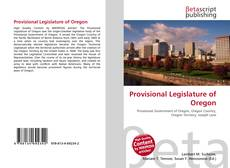 Bookcover of Provisional Legislature of Oregon