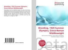 Wrestling, 1920 Summer Olympics, Greco-Roman Middleweight kitap kapağı