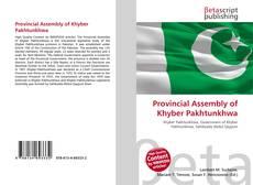 Capa do livro de Provincial Assembly of Khyber Pakhtunkhwa