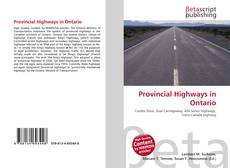 Bookcover of Provincial Highways in Ontario
