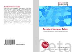 Bookcover of Random Number Table