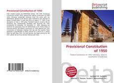 Bookcover of Provisional Constitution of 1950