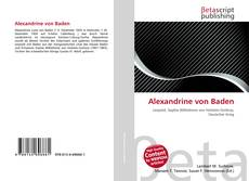 Bookcover of Alexandrine von Baden