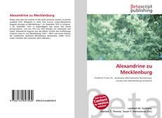Bookcover of Alexandrine zu Mecklenburg