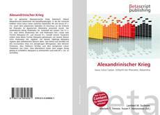 Bookcover of Alexandrinischer Krieg