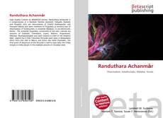 Buchcover von Randuthara Achanmār