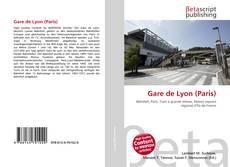 Portada del libro de Gare de Lyon (Paris)