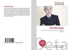 Bookcover of Paul Bérenger