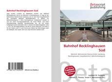 Couverture de Bahnhof Recklinghausen Süd