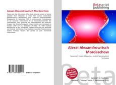 Bookcover of Alexei Alexandrowitsch Mordaschow